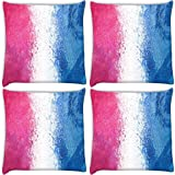 Snoogg Pack of 4 Digitally Printed Cushion Cover Pillows 20 x 20 Inch