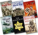 Various Usborne Young Reading Series 3 War Collection - 6 Books RRP £29.94 (The Vietnam War; Adolf Hitler; Animals at War; The Holocaust; The First World War; The Second World War)