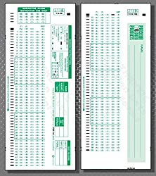 SCANTRONTM 882-E compatible- pack of 100 sheets** AUTHENTIC PDP 100 Testing FORMS, 100 question A-E