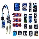 ベスト センサーモジュール キット 20種セット for Arduino / raspberry pi 2 Model B収納ケース付き(温度センサー/ホール効果センサー/赤外線トラッキングセンサー/タッチセンサー/マイク・サウンドセンサー/デジタル温度&湿度センサー/3色フルカラー SMD LEDモジュール/赤外線リモコン受信モジュール/赤外線送信モジュール/Bluetooth モジュールリレー モジュール/レーザーセンサー/遮光センサー/水銀チルトセンサー/リードスイッチ/火炎検知センサー/赤外線障害物検知センサー/土壌湿度検出モジュール/光センサー/可燃ガス&煙センサー)