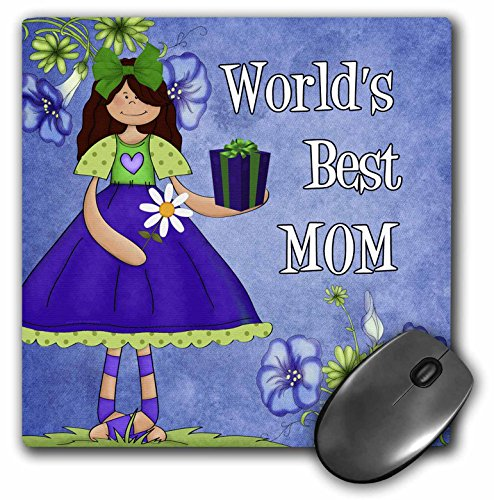Doreen Erhardt Mothers Day Collection - Worlds Best Mom in Purple for Mothers Day - MousePad (mp_40742_1)
