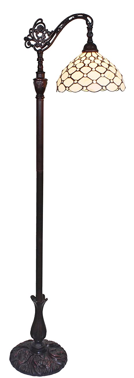 Amora Lighting AM028FL12 Tiffany Style Jeweled Reading Floor Lamp 62 In 1