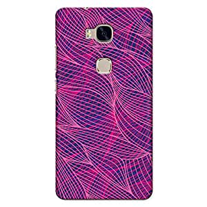 CrazyInk Premium 3D Back Cover for HUAWEI HONOR 5X - Abstract Pink Lines