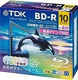 TDK 録画用ブルーレイディスク BD-R 25GB 1-6倍速 5色カラーミックス ワイドプリンタブル対応 10枚 5mmスリムケース BRV25PWMC10A