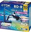 TDK �^��p�u���[���C�f�B�X�N BD-R 25GB 1-6�{�� 5�F�J���[�~�b�N�X ���C�h�v�����^�u���Ή� 10�� 5mm�X�����P�[�X BRV25PWMC10A