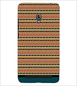 PrintDhaba Tribal Pattern D-1684 Back Case Cover for ASUS ZENFONE 6 A601CG (Multi-Coloured)
