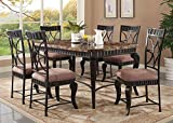 Acme 18289 Galiana Brown Marble Top Dining Table Set