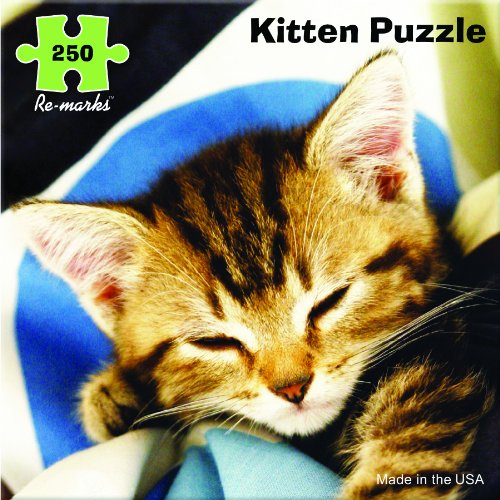250 Piece Sleepy Kitten Jigsaw Puzzle from Re-Marks