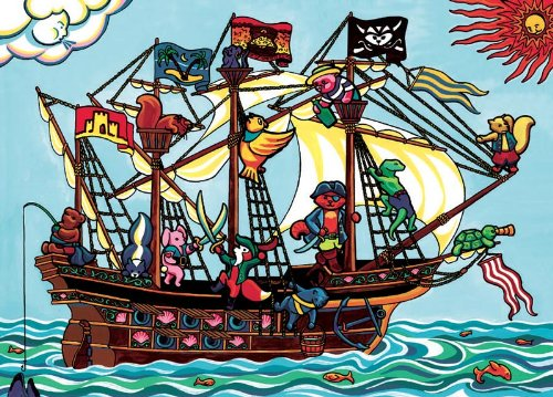 Pirate Ship, (tray)
