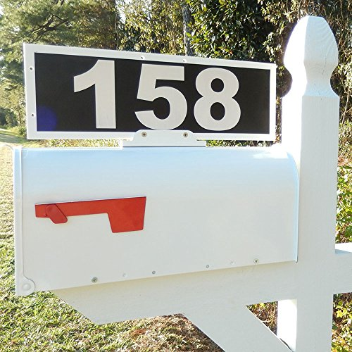Mailbox Address Plaque, Relfective 911 Plate, Mailbox Topper. Most Visible Mailbox Address Marker on the market! (Mailbox Number Plate compare prices)
