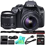 Canon EOS T6 / 1300D with EF-S 18-55mm 18.7MP CMOS 5184 x 3456 Pixels (Black) + 32GB SD Card + PRIME SELLER Camera Cleaning Cloth (Color: Black)