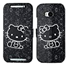 myLife (TM) Doodle Art Black Hello Kitty {Graphic Design} Faux Leather (Card