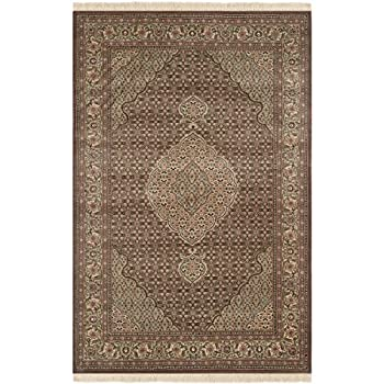 Safavieh Tabriz Herati Collection TH32 Hand-Knotted Traditional Multicolored Silk & Wool Area Rug (9 x 12)