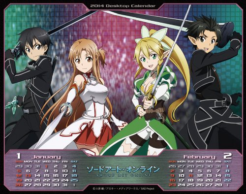 Calendar Sword Art : New sword art online sao japan anime game desk