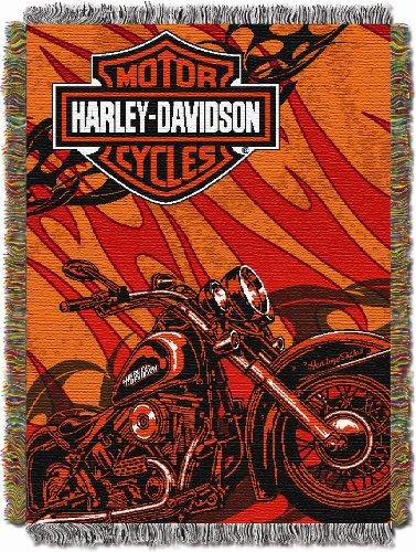 Harley Davidson Tapestry Throw