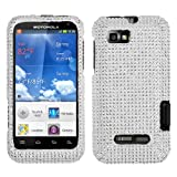 MYBAT Silver Diamante Protector Cover(Diamante 2.0) for MOTOROLA XT556 (Defy XT)
