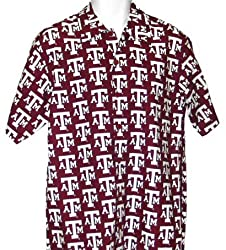 Texas A&M University Aggies Hawaiian Shirt Sm by Broad Bay