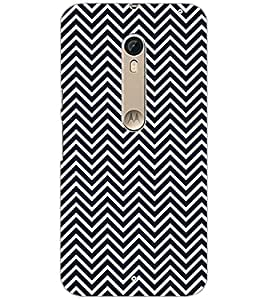 PrintDhaba ZIGZAG PATTERN D-6694 Back Case Cover for MOTOROLA MOTO X STYLE (Multi-Coloured)