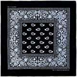 "Basico 100% Cotton Head Wrap Bandanas 12 Pack 22""x22"" **Various Colors **"