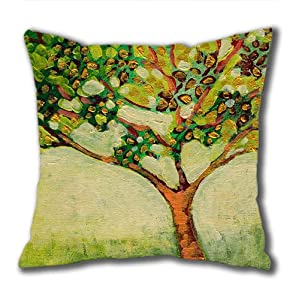 Illustration Painting Moonlight Watchers Standard Size Design Square Pillowcase/Cotton Pillowcase with Invisible Zipper in 40*40CM 16*16(527)-527072 from Square Pillowcase