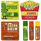 Bacon Lip Balm, Dill Pickle Lip Balm & French Fry Lip Balm - (Pack of 3) Gift Set