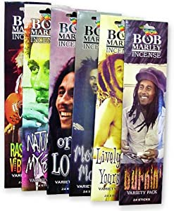 Bob Marley Incense (3 Packs of 24 Sticks)