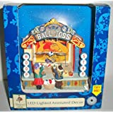 Hoop Star Ball Toss Lighted Animated Christmas Village Table Accessory