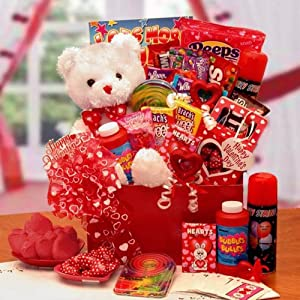 Gift Basket Drop Shipping The Bear of Hearts Kids Valentine Gift Box