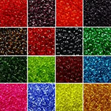 20 Colors Vintage Glass SEED Beads Bulk Garnet Red Blue Green Black Yellow Orange Purple 2mm Tiny Mi