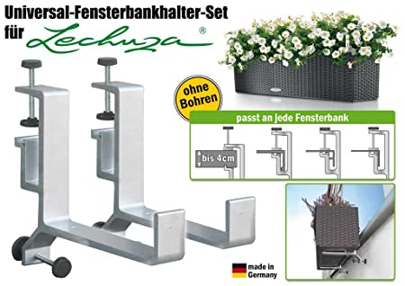 blumenkastenhalter in aluminium f r lechuza balconera vor der. Black Bedroom Furniture Sets. Home Design Ideas
