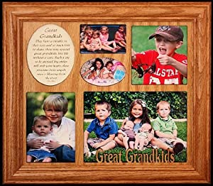 GREAT GRANDKIDS ~ Photo & Poetry COLLAGE Frame ~ Wonderful Gift for a Great Grandma, Great Grandpa or Great Grandparents!