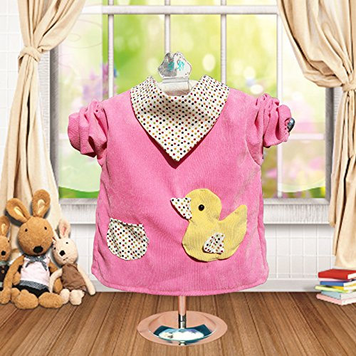 1 Pcs Baby Waterproof Cotton Corduroy Dress Baby Clothes Bib Apron,baby Feeding Eating Playing Aprons Artists Classroom Painting Aprons Smock,game Mother More At Ease Pink Strap Duck Style