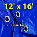 12' X 16' Blue Multi-purpose Waterproof Poly Tarp Cover with Tent Shelter Camping Tarpaulin By Prime Tarps acquired from Prime Tarps