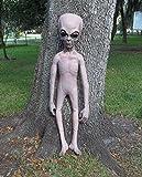 Life Size Alien Grey UFO Body halloween Prop Roswell Statue