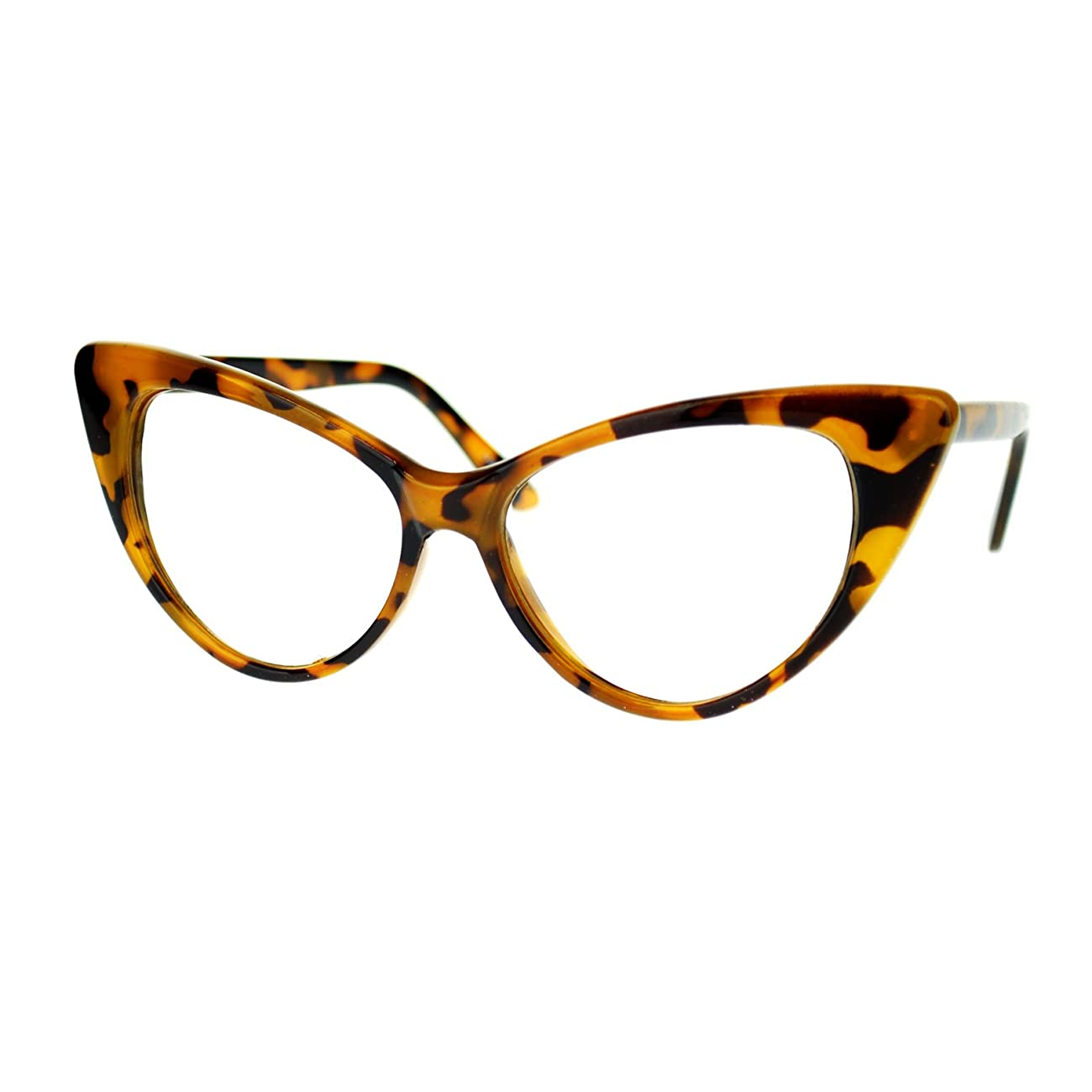 Womens Goth Mod Chic Classic Retro Cat Eye Optical Glasses 1