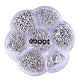 eBoot 7 Style 895 Pieces Jewelry Findings Starter Kit with Clear Box, Silver