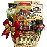 Holiday Traditions Premium Gourmet Food Christmas Gift Basket with Smoked Salmon