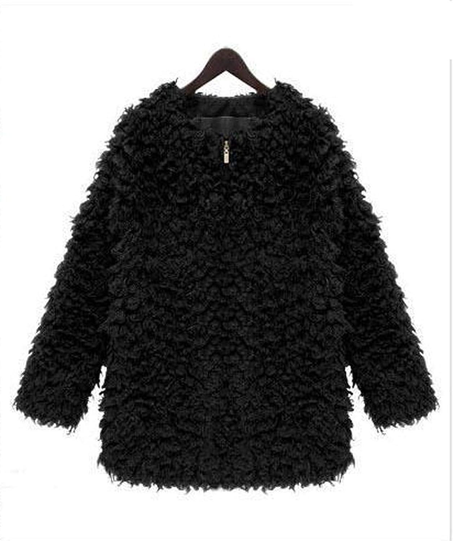 Amazon.co.jp: XASAP レディース ファー コート カーディガン ジャケット 防寒 羽織: 服&ファッション小物通販