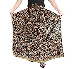 Aura Life Style Cotton Long Skirt (ALSK2125P, Bronze)