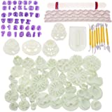 BIGTEDDY - 108pcs Cake Bakeware Sugarcraft Icing Decoration Kit with Flower Modelling Mold Mould Fondant Tools (Color: Multi-color, Tamaño: 108pcs Modelling Tools)