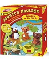 Joustra - 43519 - Kit de Loisir Créatif - Moulage Animaux de la Foret - 4 Moules
