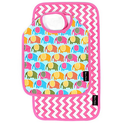 Bella Tunno Bib and Burpie Set, Elephant March/Zigzag Punch