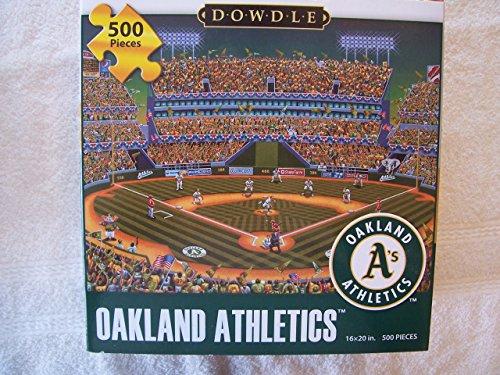 Dowdle-Folk-Art-500-Piece-Puzzle-Oakland-Athletics-As-Baseball-16-x-20-Finished
