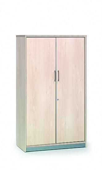 Armario rocada con 3 estantes y dos puertas enteras serie store 156x90x45 acabado aa01 haya/haya
