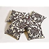 Swayam Drape And Dream Printed Cotton 5 Piece Cushion Cover Set - Choco (CC165-9009 )