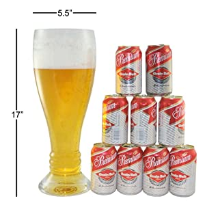 oversized beer glass bachelors gift