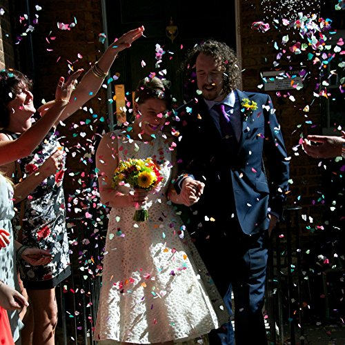 Whitelotous 8000pcs Confetti Tissue Paper Rainbow Colors Circles Confetti Wedding Party Decor