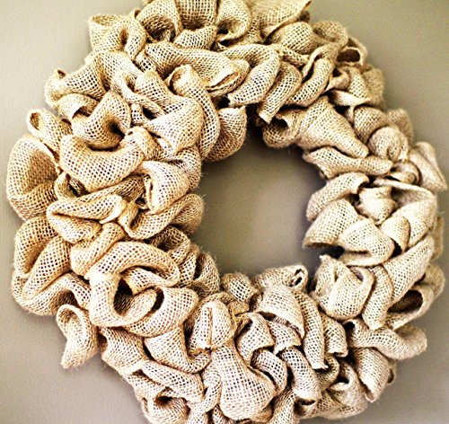 15 inch Burlap wreath , Wedding wreath, Rustic wreath , Outdoor wreath ,Front door Wreath,DIY Wreath,Plain Wreath, Spring Wreath, Winter Wreath, home warming