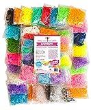 おもちゃ 7200 Band MEGA Rainbow Braid Loom Refill Set - US Lab Tested Free of Toxins - 24 Colors 35 Charms & 500 Clips - Brightest Colors Including Glitter Glow in the Dark & Metallic - Limited Edition [並行輸入品]