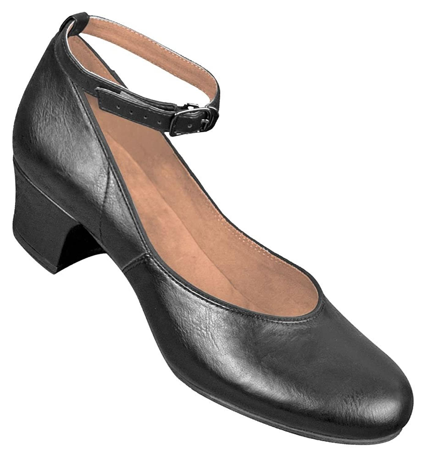 Retro Style Dance Shoes 1950s Mid-Heel Character Shoes $49.95 AT vintagedancer.com